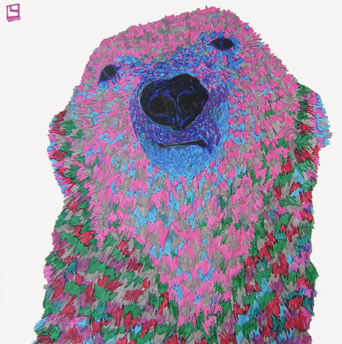 colorsetcetera:  A fantastic polar bear sketch and color combination from artist Luigi Loquarto, via Doodlers Anonymous