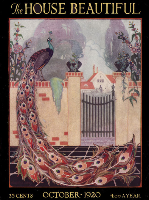 Cover for The House Beautiful, Oct. 1920.