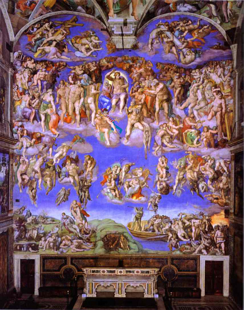 Michelangelo di Lodovico Buonarroti Simoni - The Last Judgment Found by Anya Garrett.