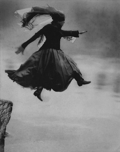"vitalsings:  This picture is beautiful. Thanks, sharanam:  ""Leap"", Veiled Woman by Barbara Parmet Cover image for the Enlightenment issue of Inquiring Mind"