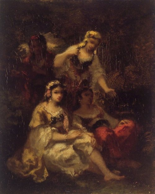 Narcisse-Virgile Diaz de la Peña - Four Spanish Maidens