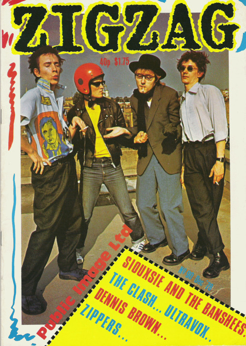 Public Image Limited on the cover of Zig Zag #90, December 1978. I'll scan the interview and excellent Dennis Morris pics from this one later.