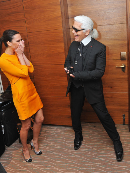 hauntinglylovely:  Victoria Beckham and Karl Lagerfeld @  Day 1 of the International Herald Tribune Heritage Luxury Conference