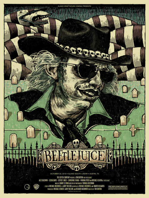 Beetlejuice  // by Rich Kelly (via Mondo, herochan)