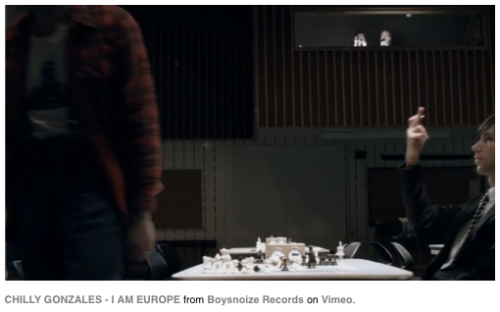 "The new Chilly Gonzales video ""I am Europe"" shows a nice yuck-fou."