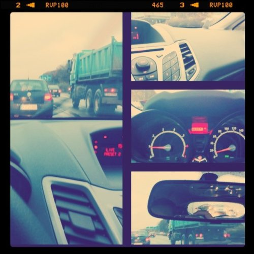 Commuting (Taken with instagram at Stau auf der A57)