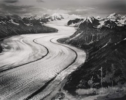 Kazhitna Glacier, AK, Alaska 1990 by Marilyn Bridges (via CCNY Libraries)