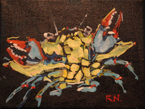 Crabzilla by Rick Nilson Oil on canvas