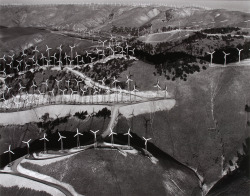 Windmills on Ridges, Tehachapi, California 1986 by Marilyn Bridges (via CCNY Libraries)