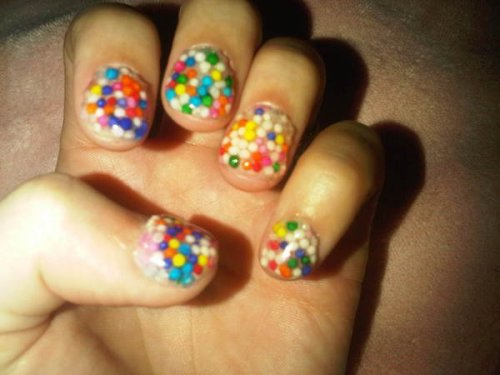 Katy Perry's sprinkle nails.  Via