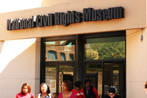 Dear Old Memphis, TN (National Civil Rights Museum) While in Memphis, I had the opportunity to visit the National Civil Rights Museum, which is housed at the former Lorraine Motel (the site where Martin Luther King, Jr. was assassinated). It was quite an experience, but one of the most memorable sights that day was happening right across the street from the museum. Jacqueline Smith is a woman that has been protesting across from the National Civil Rights Museum for almost the past 23 years. She's protesting what she claims to be the exploitation of MLK Jr. and the gentrification of the area surrounding the Civil Rights Museum. Once a permanent resident of the former Lorraine Motel, she was forcefully evicted when the motel began the process of becoming a museum. She was actually the last resident of the motel to be removed. I noticed her protest booth on the way out of the museum, so I went up and took some pictures. I went home to do some research and was quite amazed to find that she's been out there for up to 21 hours a day, non-stop for the last 23 years. Quite remarkable.