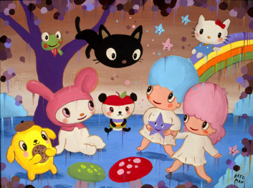 "@garybaseman's ""Garden of Sanrio Delights"" for the ""Small Gift"" Exhibition for @Sanrio's 50th Anniversary. Read more in the LA Times"