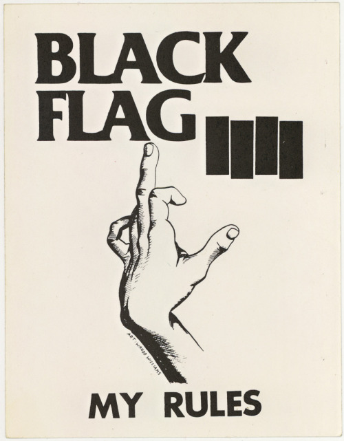 An old original Black Flag sticker, one of many great bonuses (five flyers and three other stickers!) that came with a copy of Everything Went Black that I picked up online a couple years ago.