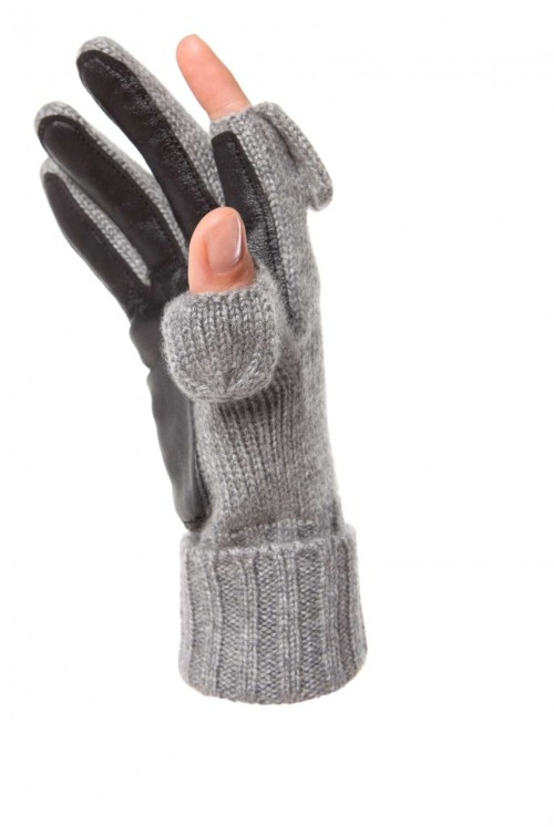 i would love to have these gloves. the tips of the index finger and thumb snap off and on magnetically so that you can use your smartphone / touch screen device with ease in the cold!