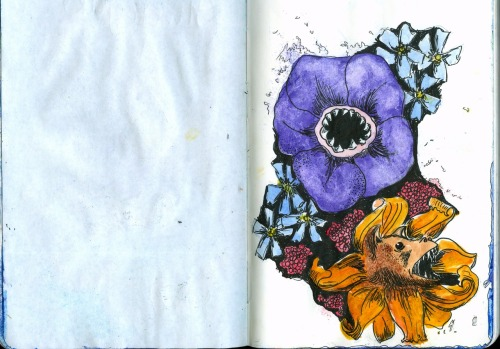 Sketchbook Wednesday! Doodlez and watercolor.