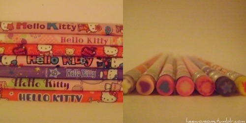 My Hello Kitty Pencils! / heewonsong