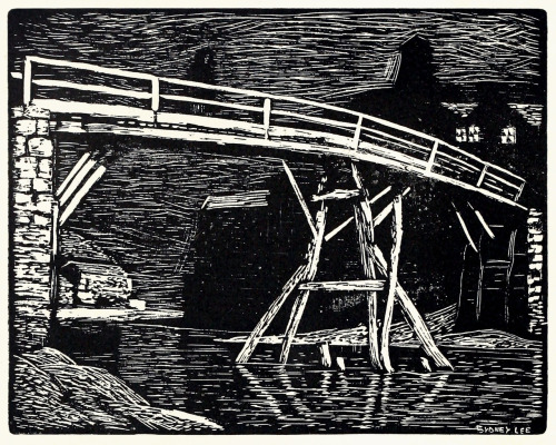 The bridge.  Sydney Lee, from The graphic arts of Great Britain, by Malcolm C. Salaman & Charles Holme, London, Paris, New York, 1917.