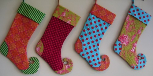 Elf Christmas Stocking by loveelaine on Etsy