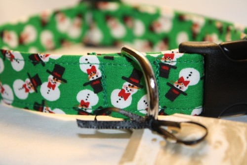 Adjustable Custom Dog Collar - Give Us Frosty by ColeysCollars on Etsy