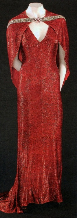 The Bride Wore Red (1937)Iconic red bugle bead gown worn by Joan Crawford as Anni Pavlovitch by Adrian