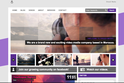 We are now live! Check it out at: www.drexdimedia.com
