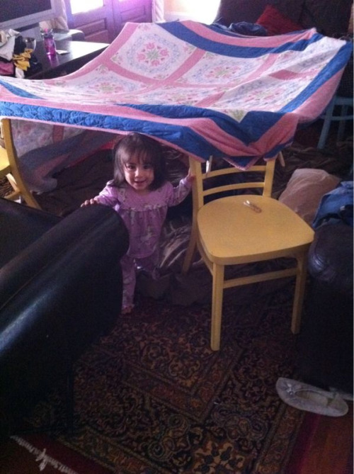 It's a make a fort kind of day…