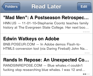 Instapaper - Lenght and progress indicator /via @cameronmoll