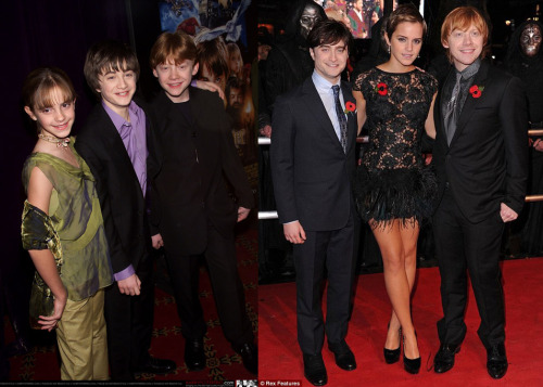 iloveharryjamespotter:joellamarano:   2001-2010  They've all grown into gorgeous adults.