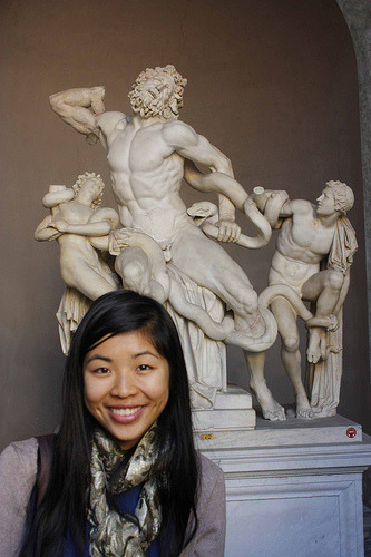 The famous Laocoon in Vatican Museum
