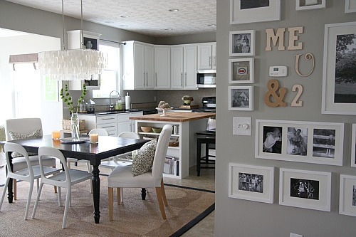 dito gluestickgirl:  : CHI - Dana's DIY Modern Casual Home : Apartment Therapy love the mix of frames and letters