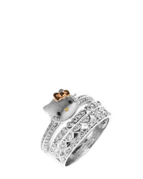 Hello Kitty 18K 0.50 cttw. Diamond Stackable Rings - $1,199
