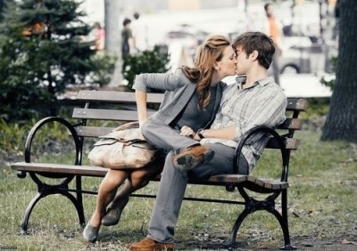 kiss me on park benches.