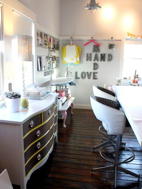 always love to see spaces like these gluestickgirl:  Design*Sponge » Blog Archive » sneak peek: christie chase's loft