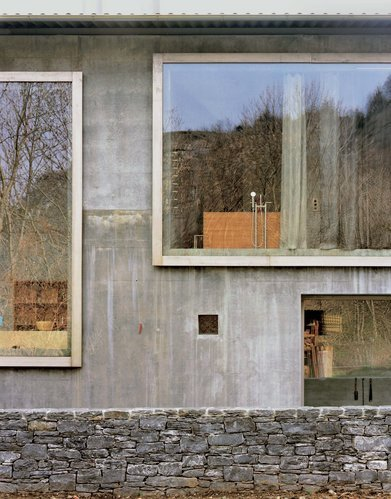 A few images of Peter Zumthor's sublime studio and home, Haldenstein 2005. Via.