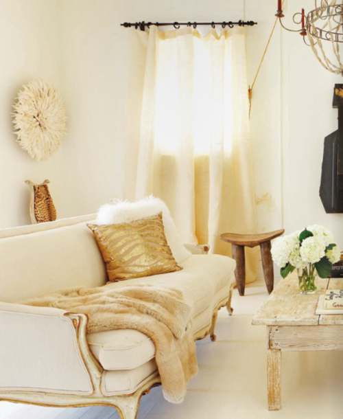 Decor Inspiration in Gold and Cream