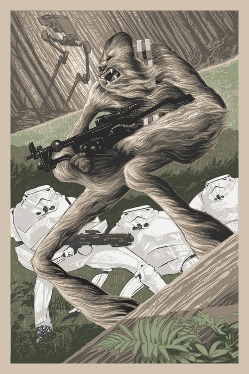 "OMG Posters! » Archive » Rich Kelly's ""Attack Position"" Star Wars Art Print"