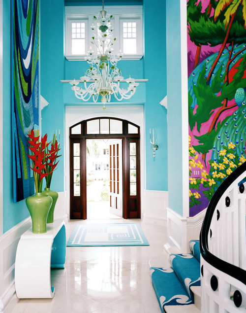 LOVE! stargirl02:  Pretty turquoise home.