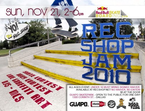 Don't forget about the Rec Shop Skate Jam next weekend!