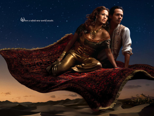 Jennifer Lopez as Jasmine and Marc Anthony as Aladdin Aladdin Portrait by Annie Leibovitz