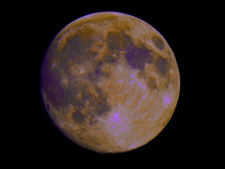 The moon in full color.