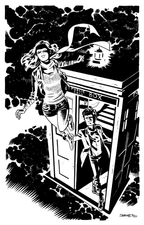 Doctor Who and Amy Pond by Chris Samnee