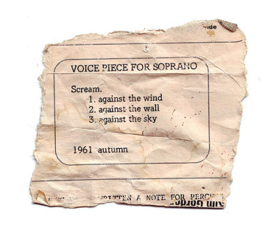 Yoko Ono: Voice Piece for Soprano, MOMA 2010