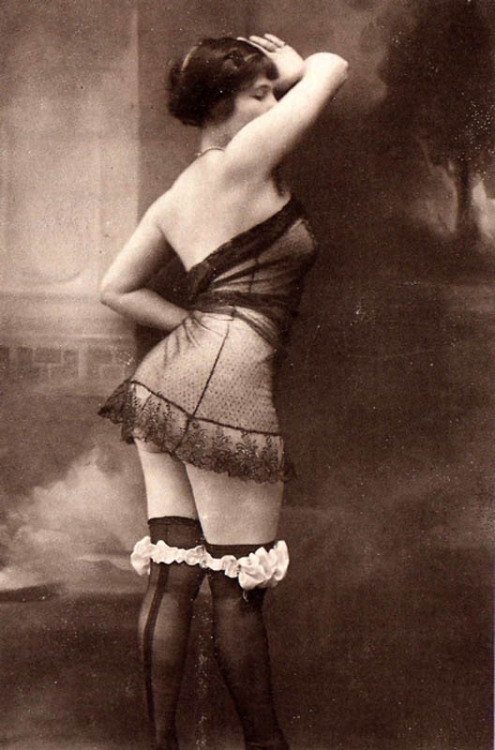 Stockings and lace, 1910s.