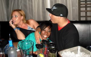 It's not ALWAYS business! I do have fun sometimes! This was during WMC 2010 in Miami! Hanging with some of my Industry Friends at Blade and LIV Nightclub inside of Fountainebleu Miami Hotel! Fun times!  Can't wait for WMC 2011…you should come too! ww.wintermusicconference.com  xoxo Roz-O! on The Go!