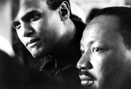 charles moore - martin luther king & harry belafonte, montgomery, alabama, 1965