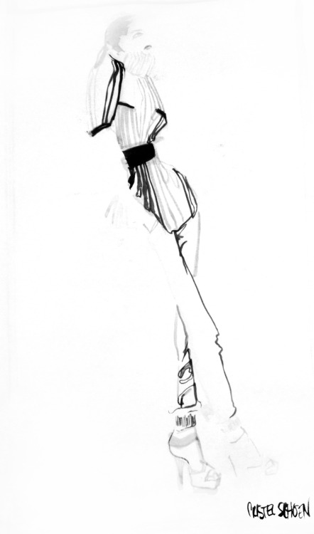 figure drawing exercise brush and ink