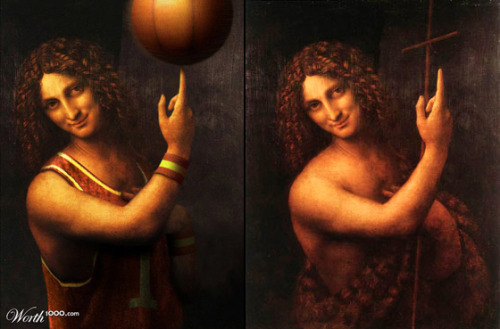 """Saint John the Baptist"" (San Giovanni Battista) by Leonardo Da Vinci (c. 1508-1513)"