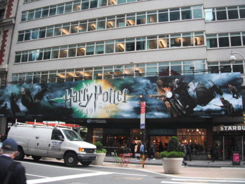 godrichollow:  this is right near Times Square. I got SO excited when I saw it :) Its so big too!!