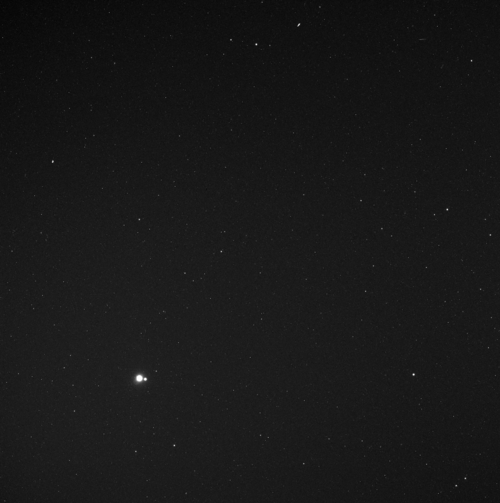 Earth & Moon.Taken from Mercury's orbit by Messenger.