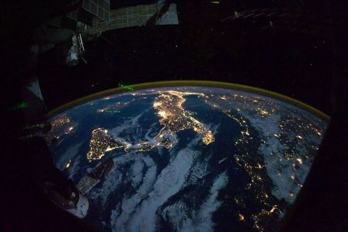 Italy, EU as seen from the International Space Station 220 miles above Earth. [Source]